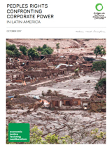 report cover: Peoples rights: confronting corporate power in Latin America