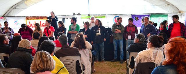 Presentación del equipo de convergencia de comunicaciones. Jornada Continental. Encuentro Montevideo.