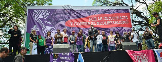 Acto Inaugural del Encuentro de Montevideo (Jornada Continental por la Democracia y contra el Neoliberalismo)