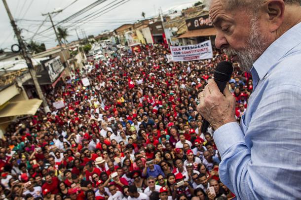 """Lula por Brasil"" caravan, 18 August 2017 © Mídia Ninja"