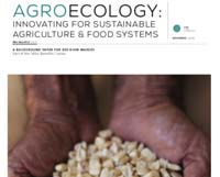Agroecology: innovating for sustainable food systems and agriculture
