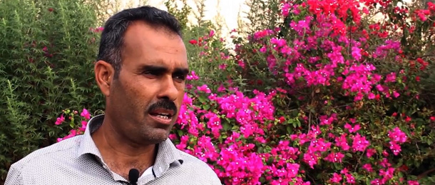 Saeed Ishtayah, a farmer in Beat Hassan.