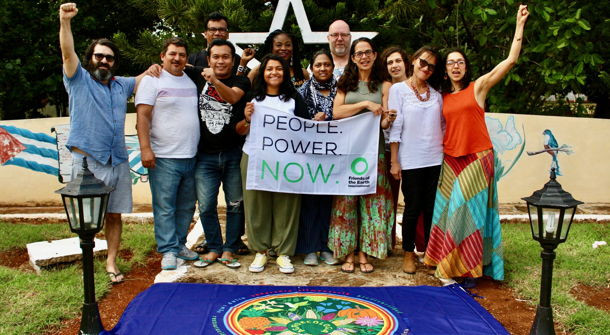 Friends of the Earth International delegation at agroecokogy meeting Cuba 2019