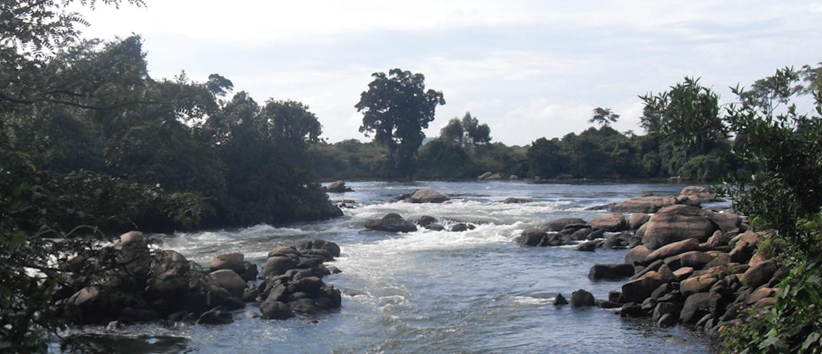 River Nile at the Bujagali falls