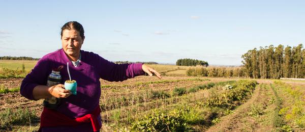 Graciela Gonzalez on farm in Uruguay