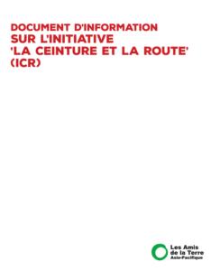 document d information sur l initiative la ceinture et la route ICR-page de garde