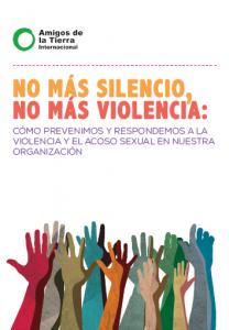 portada del manual sobre como prevenir la violence y el acoso sexual con dibujo de manos